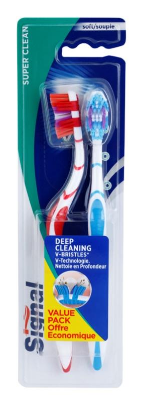 Signal Super Clean Zahnbürste Medium 2 pc
