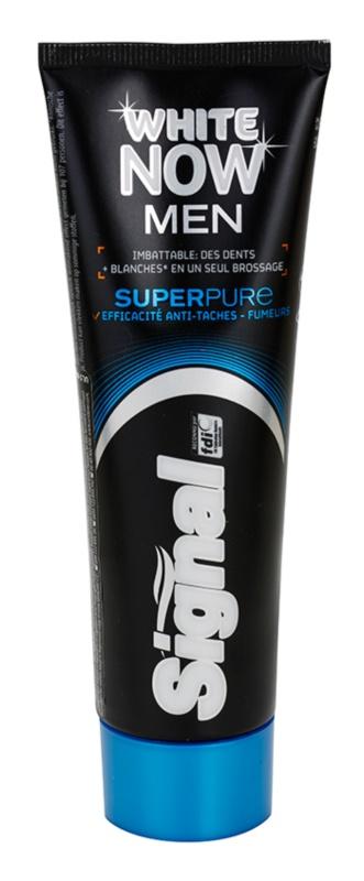 Signal White Now Men Super Pure pasta de dinti special pentru barbati cu efect de albire