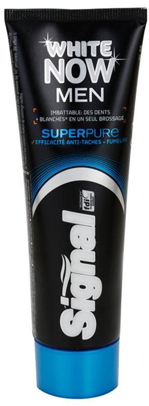 Signal White Now Men Super Pure zubná pasta pre mužov s bieliacim účinkom