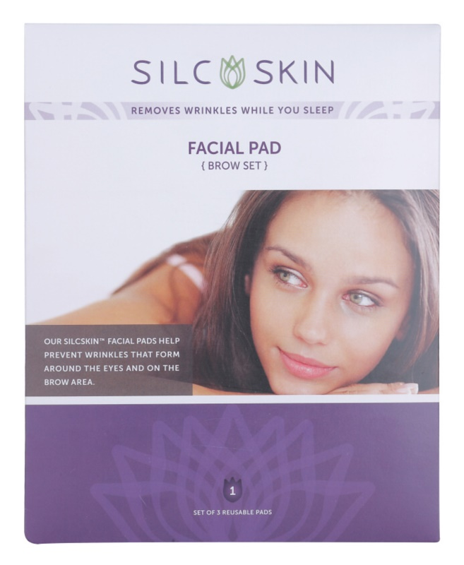 SilcSkin Facial Pad silikonové polštářky proti vráskám v oblasti čela a očí