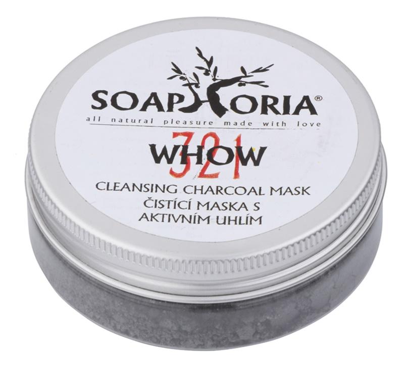 Soaphoria Organic  maska oczyszczająca z aktywnym węglem w proszku