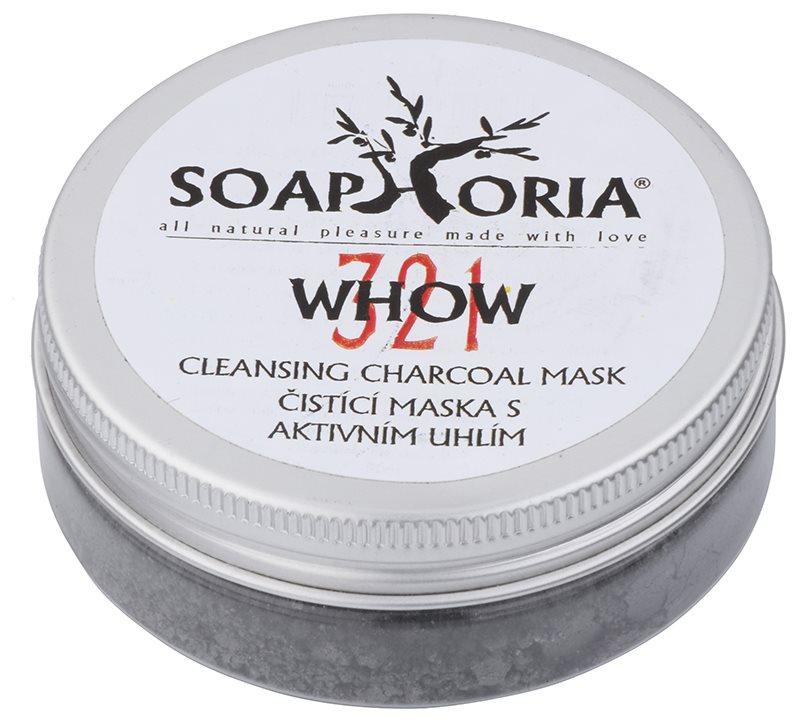Soaphoria Organic reinigende Maske mit Aktivkohlepulver