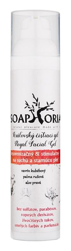 Soaphoria Royal Facial Gel rejuvenační a stimulující čisticí gel pro suchou a stárnoucí pleť