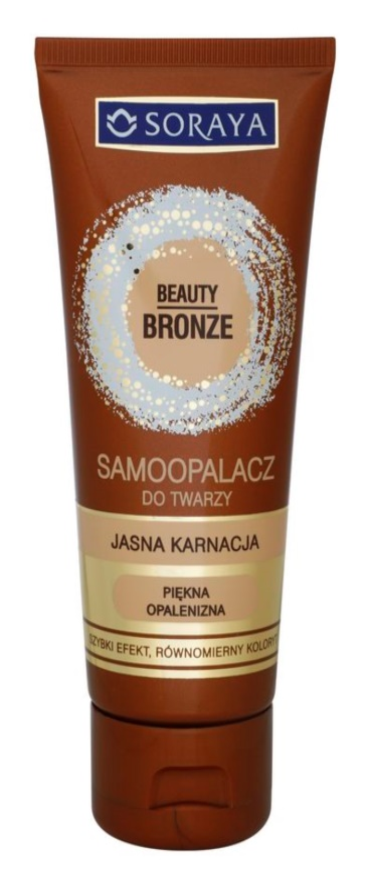 Soraya Beauty Bronze crema autoabbronzante viso per pelli chiare