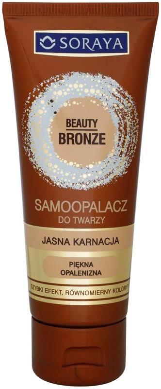 Soraya Beauty Bronze samoopalovací krém na obličej pro světlou pleť