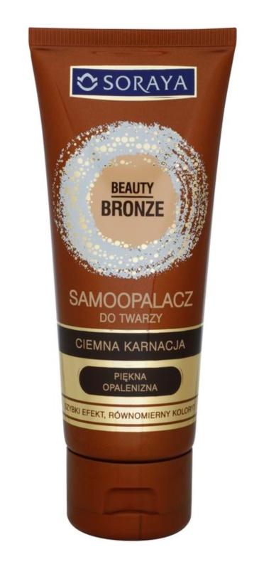 Soraya Beauty Bronze samoopalovací krém na obličej pro tmavou pleť