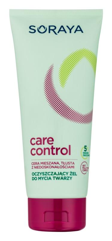 Soraya Care & Control gel para lavar para pieles acnéicas