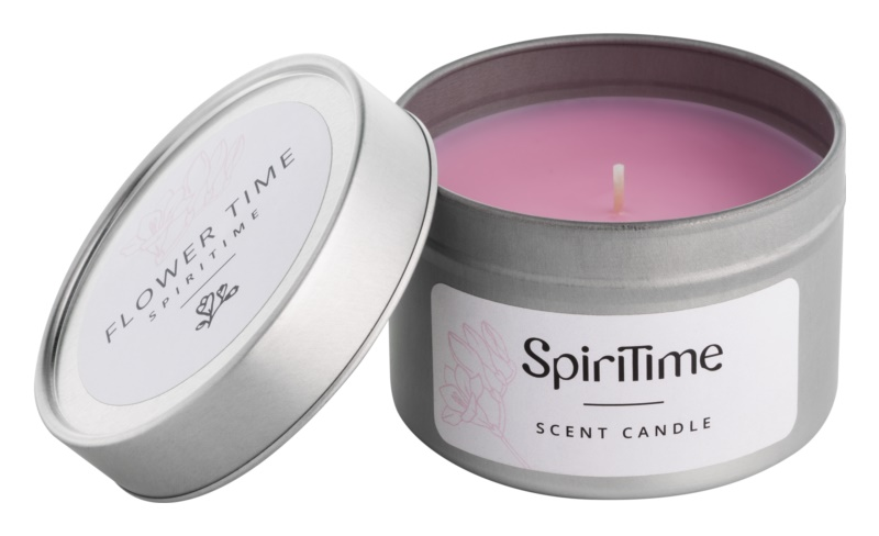 SpiriTime Flower Time vonná svíčka   v plechovce