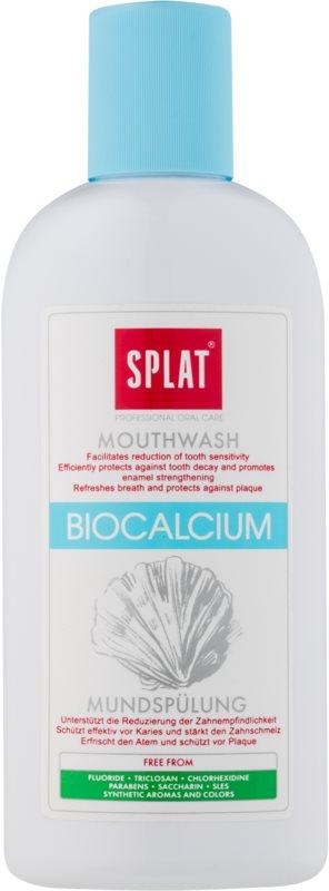 Splat Professional Biocalcium вода за уста за подсилване и възстановяване на зъбния емайл без флуорид