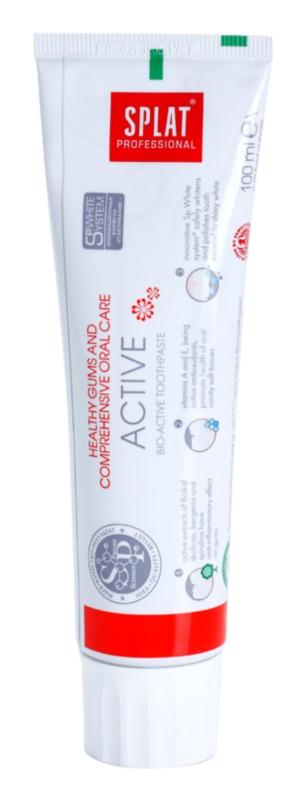 Splat Professional Active bioaktívna zubná pasta pre zdravé ďasná a komplexnú starostlivosť o chrup