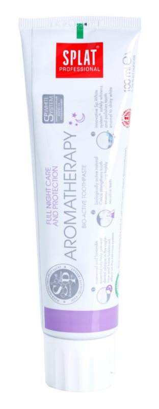 Splat Professional Aromatherapy bioaktívna zubná pasta pre kompletnú ochranu v priebehu noci