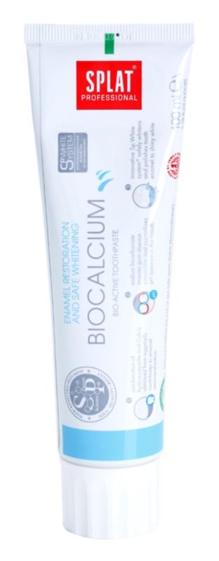 Splat Professional Biocalcium dentífrico bio-ativo para recuperação do esmalte e branqueamento suave