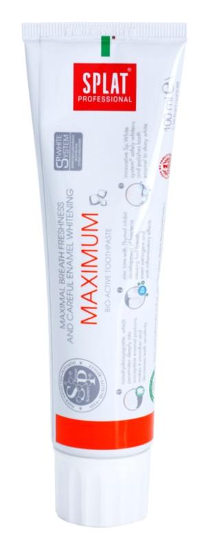 Splat Professional Maximum Bio-Active Toothpaste for Maximum Freshness and Gentle Enamel Whitening