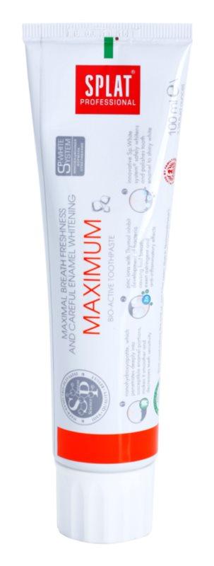 Splat Professional Maximum pasta de dinti bio-activa pentru respiratie proaspata si protectia smaltului alb