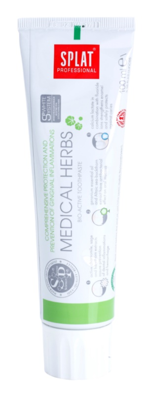 Splat Professional Medical Herbs Bio-Active Toothpaste For Protection Of Teeth And Gums