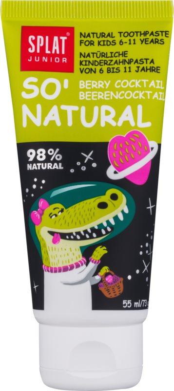 Splat Junior So' Natural dentifricio per bambini 6 - 11 anni