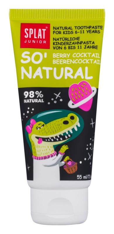 Splat Junior So' Natural Zahncreme für Kinder im Alter von 6 bis 11 Jahren