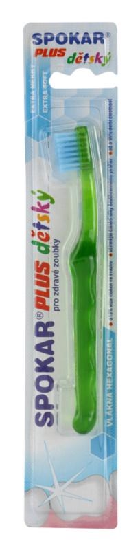 Spokar Plus cepillo de dientes para niños  extra suave