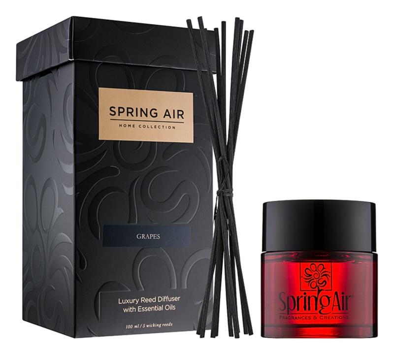 Spring Air Home Collection Grapes diffuseur d'huiles essentielles avec recharge 100 ml