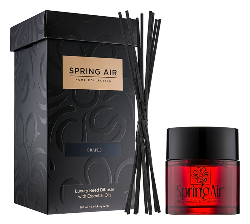 Spring Air Home Collection Grapes diffuseur d'huiles essentielles avec recharge 100 ml