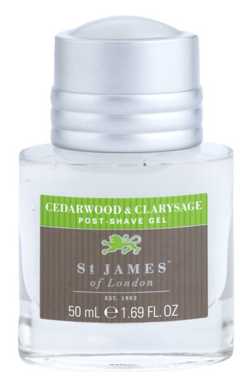 St. James Of London Cedarwood & Clarysage gél po holení pre mužov 50 ml