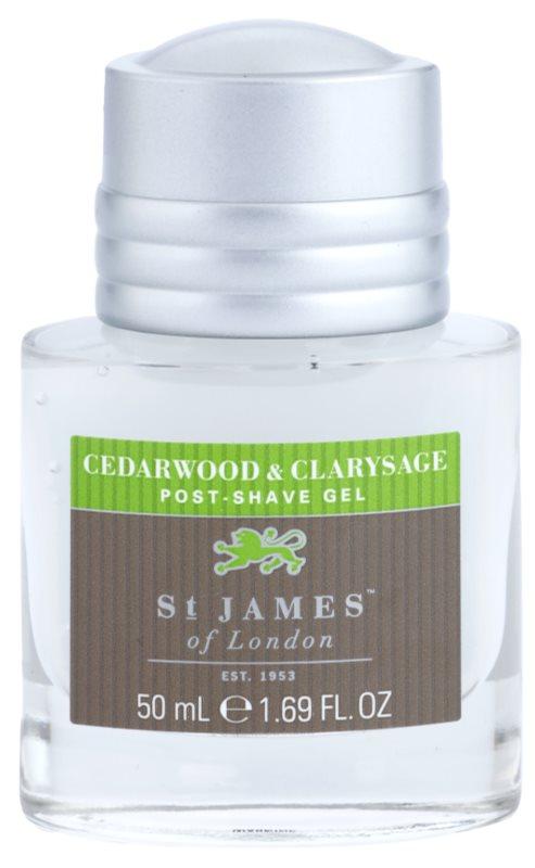 St. James Of London Cedarwood & Clarysage żel po goleniu dla mężczyzn 50 ml