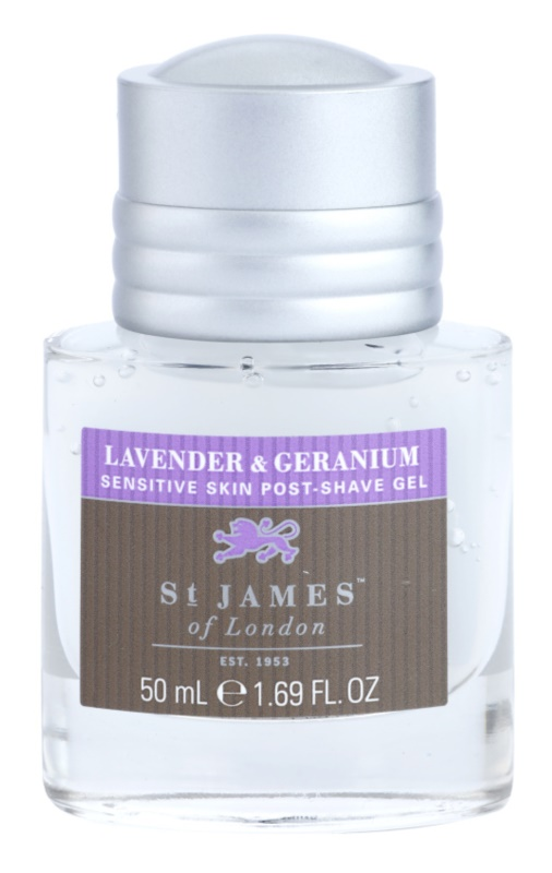 St. James Of London Lavender & Geranium After Shave Gel for Men 50 ml Unboxed Travel Package