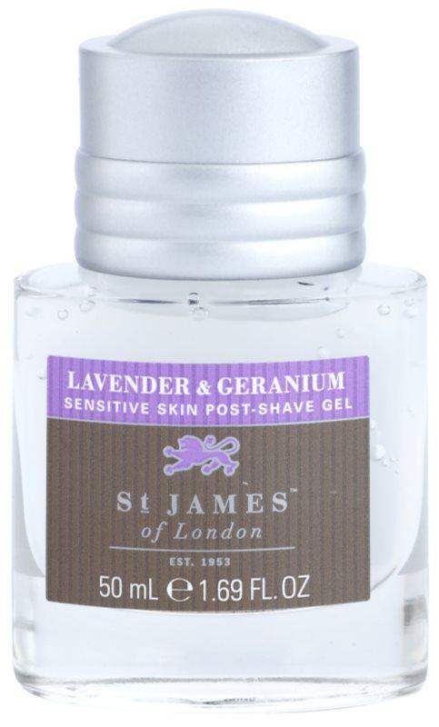 St. James Of London Lavender & Geranium gel après-rasage pour homme 50 ml sans boîte format voyage
