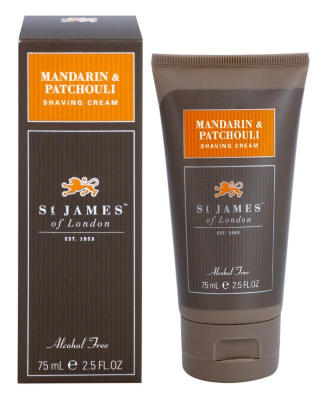 St. James Of London Mandarin & Patchouli krem do golenia dla mężczyzn 75 ml pakiet podróżny