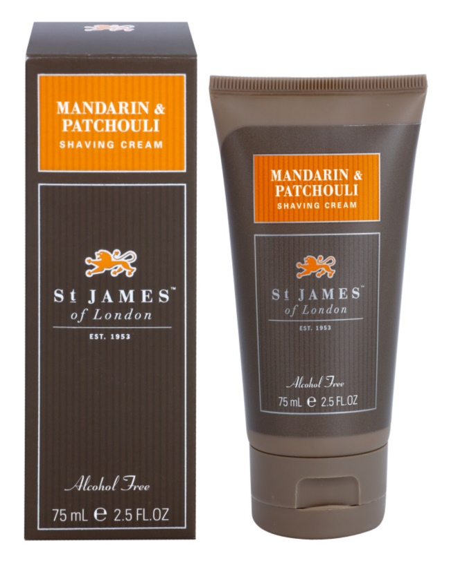 St. James Of London Mandarin & Patchouli Shaving Cream for Men 75 ml Travel Packaging