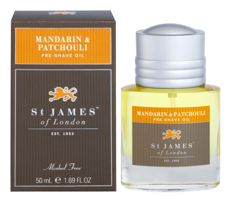 St. James Of London Mandarin & Patchouli olio per barba per uomo 50 ml