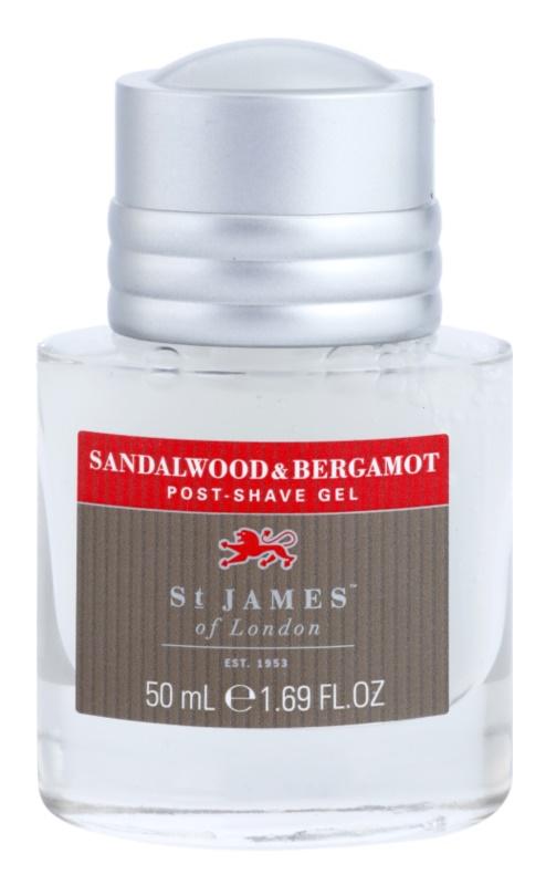 St. James Of London Sandalwood & Bergamot After Shave Gel for Men 50 ml Unboxed Travel Package
