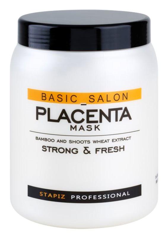 Stapiz Basic Salon Placenta máscara hidratante para cabelo cansado e quebrado