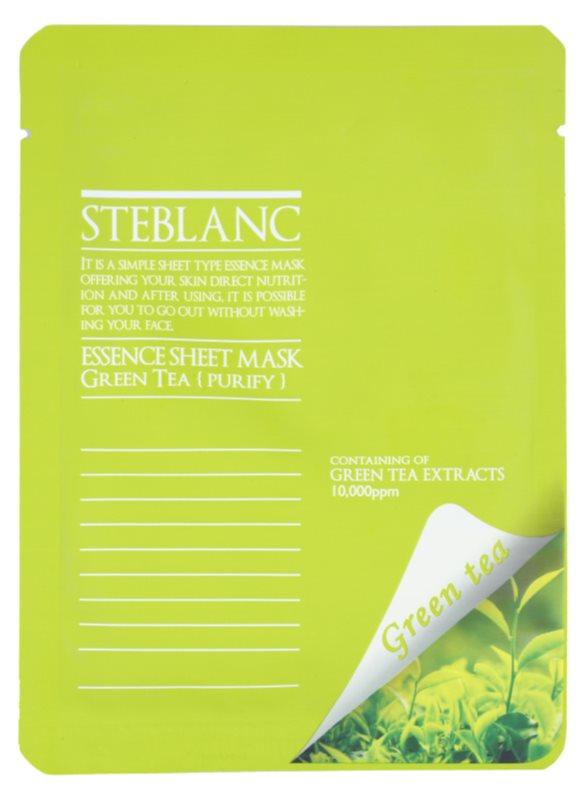 Steblanc Essence Sheet Mask Green Tea mascarilla facial limpiadora y calmante