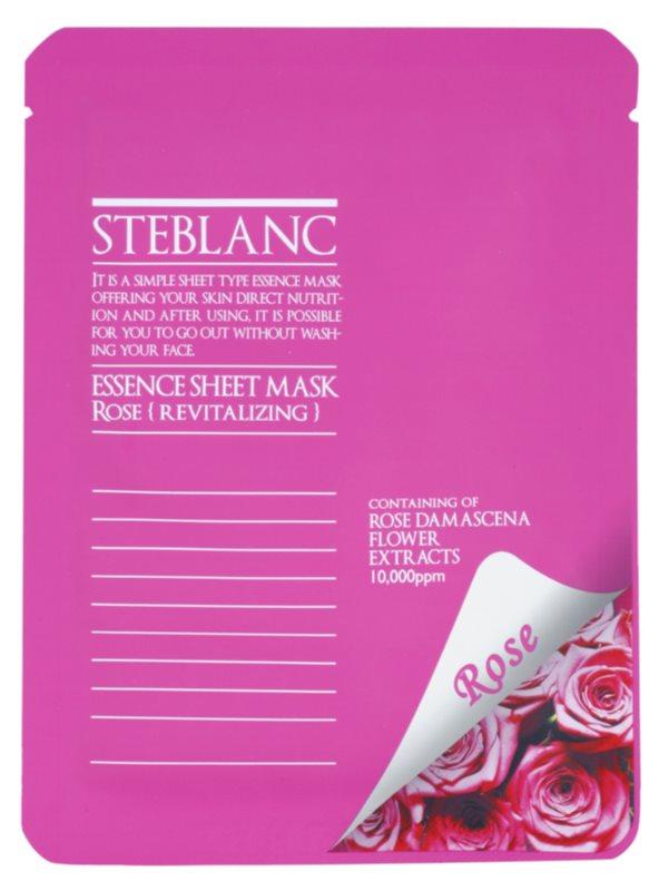 Steblanc Essence Sheet Mask Rose mascarilla facial revitalizante
