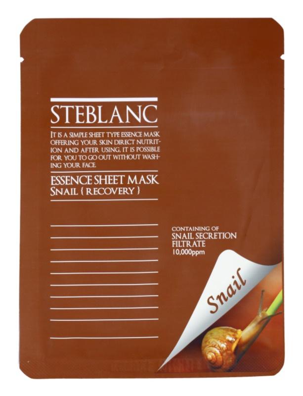 Steblanc Essence Sheet Mask Snail tápláló és megújító arcmaszk hidratáló hatással