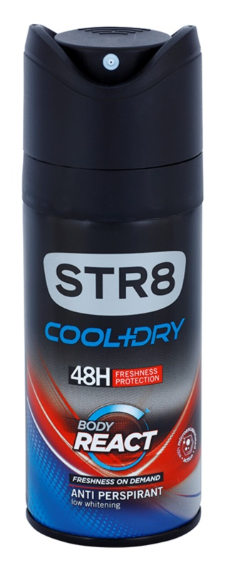STR8 Cool & Dry Body React deospray per uomo 150 ml