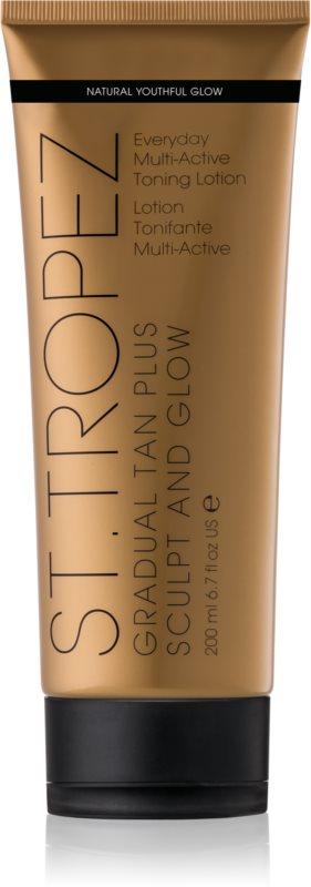 St.Tropez Gradual Tan Plus Sculpt and Glow toniserende lichaamscrème voor Gelijkmatige Bruining