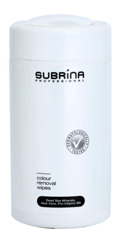 Subrina Professional Colour čistiace obrúsky na odstraňovanie farby z pokožky