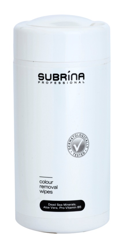 Subrina Professional Colour čisticí ubrousky na odstraňování barvy z pokožky