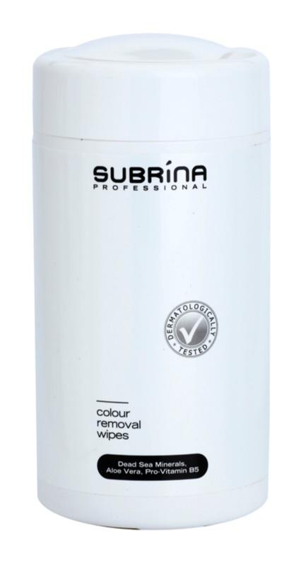 Subrina Professional Colour toallitas limpiadoras para eliminar tinte de la piel