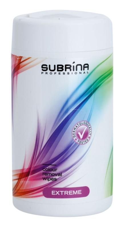 Subrina Professional Colour Extreme Toalhitas de limpeza para remover coloração da pele