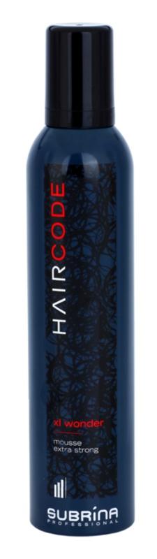 Subrina Professional Hair Code Xl Wonder espuma de cabelo fixação extra forte