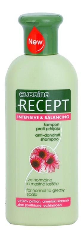 Subrina Professional Recept Intensive & Balancing šampon proti lupům pro normální až mastné vlasy