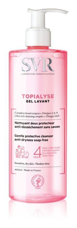 SVR Topialyse tisztító gél száraz és érzékeny bőrre