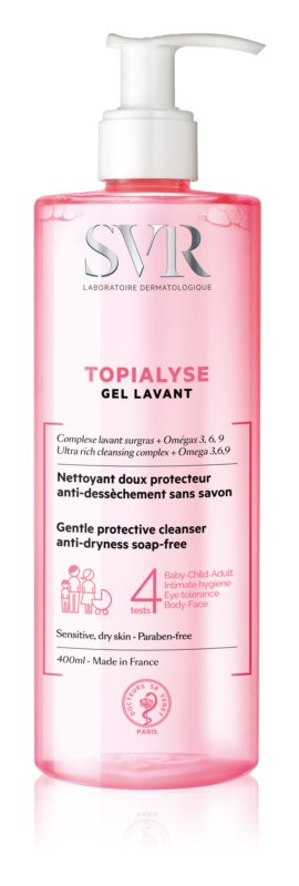 SVR Topialyse очищуючий гель для сухої та чутливої шкіри