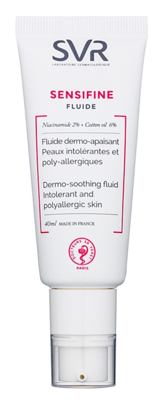 SVR Sensifine fluido calmante para pele sensível e intolerante