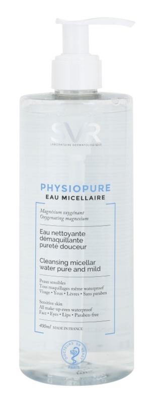 SVR Physiopure sanften Mizellarwasser zum Reinigen für Gesicht und Augenpartien