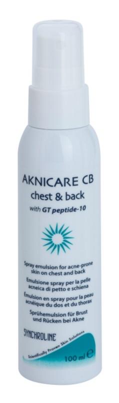 Synchroline Aknicare  CB emulsie spray pentru reducere acnee de pe spate si piept