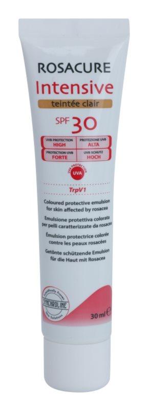 Synchroline Rosacure Intensive emulsão com cor para pele sensivel e com tendência a vermelhidão SPF 30